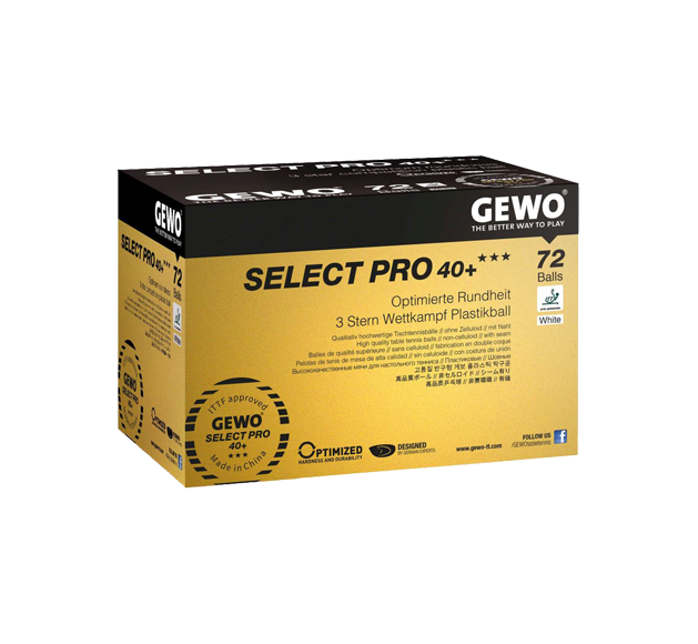 GEWO Ball Select Pro 40+ Three Star 72er